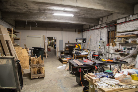 Wood Shop,  Knox Heritage Art and Salvage Shop, 619 Broadway, Knoxville, March 2015