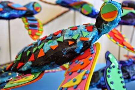 Leatherback Turtle Sculptures