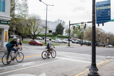 Cyclists Spotted Just Before and After Meeting, Knoxville, April 2015