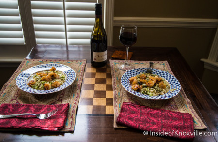 Sunday Night Dinner with Chef Karen Crumley's Recipe from Dogwood Arts on Market Square, Knoxville, Spring 2015