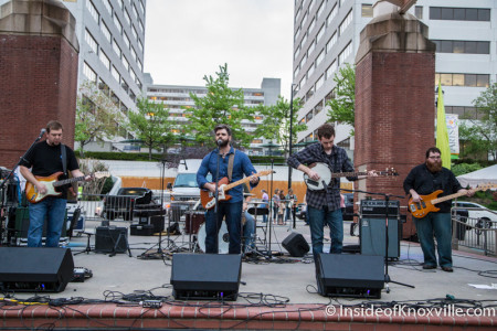Handsome and the Humbles, Market Square Stage, Dogwood Arts on Market Square, Knoxville, April 2015