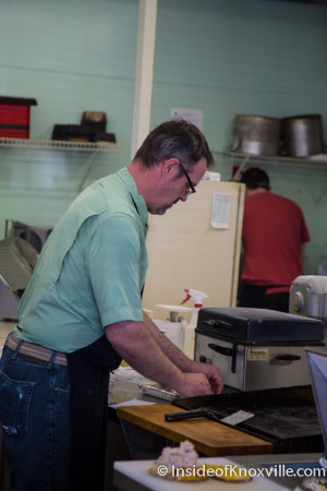 Owner Jay Brandon, Frussie's Deli and Sandwich Shoppe, 133 Moody Avenue, Knoxville, April 2015