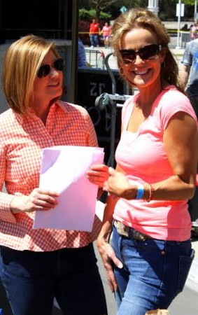 WBIR news anchor Robin Wilhoit discusses the race with organizer Lori Santoro.