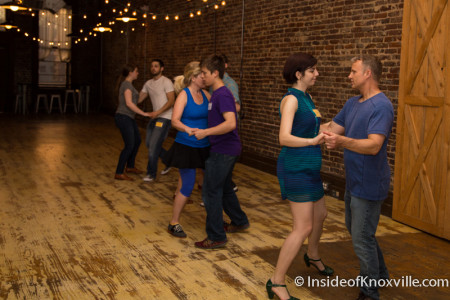 Scott Angelius and Kelly Arsenault of K-Town Swing, Dance Class at 125 W. Jackson, Knoxville, Spring 2015