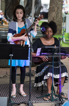 Taylor Kress with Kelle Jolly, Union Avenue Stage, Dogwood Arts on Market Square, Knoxville, April 2015