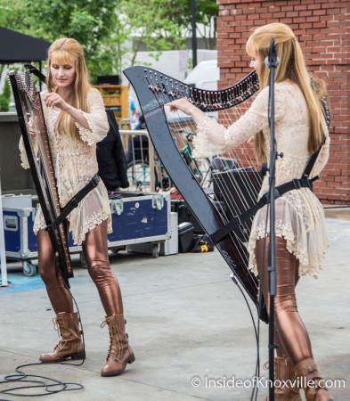 The Harp Twins, Dogwood Arts on Market Square, Knoxville, Spring 2015