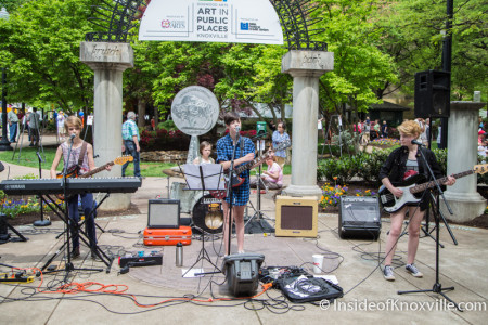 The Pinklets, Chldren's Stage, Dogwood Arts on Market Square, Knoxville, Spring 2015