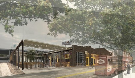 Rendering of Brewery and Restaurant Planned for Depot and Williams Street, Knoxville, May 2015