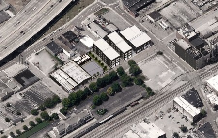 Rendering of Buildings Along Depot Avenue as Planned, Knoxville, May 2015