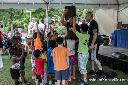 Terry Bullman of Bullman's Gym, Children's Festival of Reading, Knoxville, May 2015
