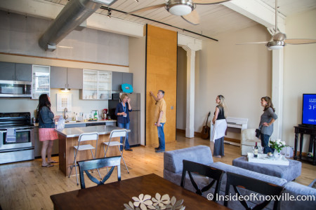 City People Home Tour, Emporium Lofts, 112 S. Gay St., Second Unit, Knoxville, May 2015