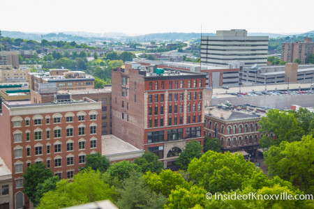 City People Home Tour, View from 14th Floor of the Holston Bldg, 531 S. Gay St., Knoxville, May 2015