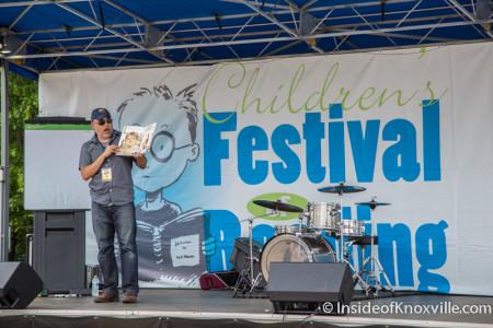 Dan Santat, Children's Festival of Reading, Knoxville, May 2015