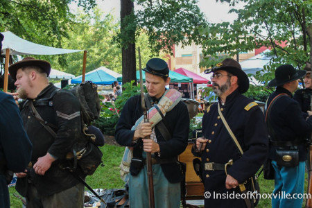 Civil War Era Reenactors at the East Tennessee History Fair