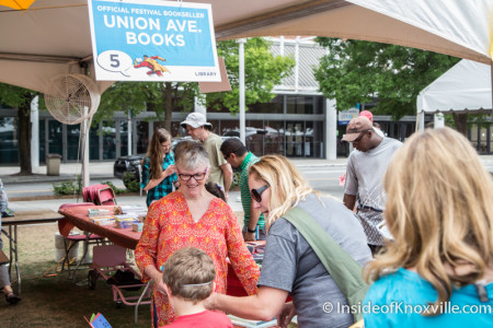 Flossie McNabb of Union Avenue Books, Children's Festival of Reading, Knoxville, May 2015