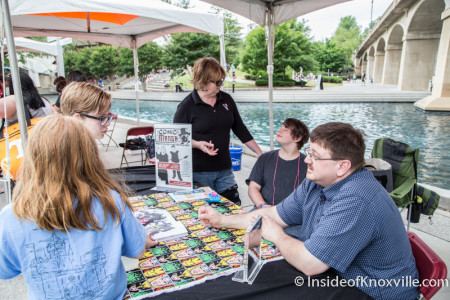 Fulton High School Comic Book Club, Children's Festival of Reading, Knoxville, May 2015