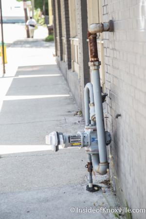 KUB Meter on the sidewalk, Knoxville, Spring 2015