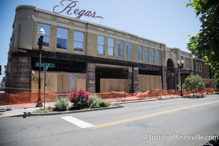 Regas Facade, Gay Street, Knoxville, May 2015