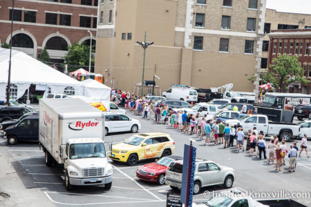 The Line for the Big Nasty, International Biscuit Festival, Knoxville, May 2015