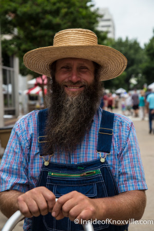 "Inside of Knoxville's Unofficial ""Best Beard"" Winner, International Biscuit Festival, Knoxville, May 2015"