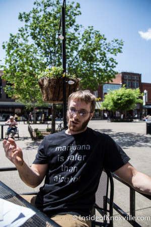Ryan Rush, Knoxville Cannabis Hemp Rally, Market Square, Knoxville, May 2015
