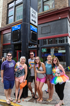 At the Intersection of Gay & Union,Pridefest Parade, Gay Street, Knoxville, June 2015