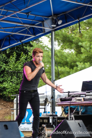 Billy Gillman, Pridefest 2015, Gay Street, Knoxville, June 2015