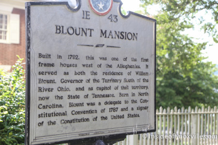 Blount Mansion, 200 W. Hill Avenue, Knoxville, June 2015