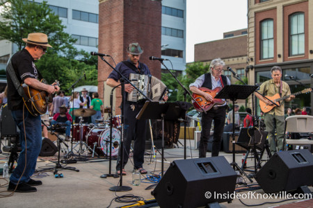 Maggie Longmire and Friends, Bob Dylan Birthday Bash, Market Square, Knoxville, June 2015