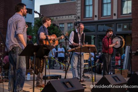 Four Leaf Peat, Bob Dylan Birthday Bash, Market Square, Knoxville, June 2015