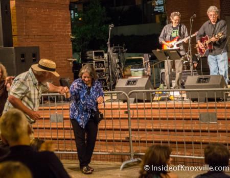 David Dwyer and Mayor Rogero Dance, Bob Dylan Birthday Bash, Market Square, Knoxville, June 2015