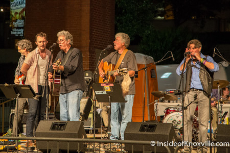 Will and Steve Horton, Bob Dylan Birthday Bash, Market Square, Knoxville, June 2015