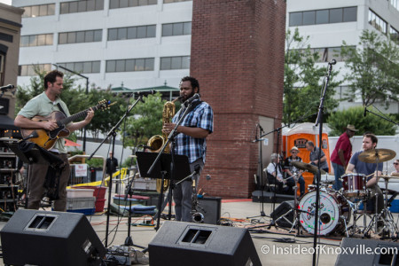 Will Boyd Band, Bob Dylan Birthday Bash, Market Square, Knoxville, June 2015