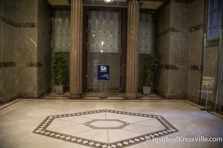 Entrance to the Tennessee Supreme Court Courtroom, US Post Office Bldg, 505 W. Main St., Knoxville, June 2015