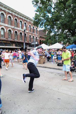 Flash Mob, Union and Market, Knoxville, June 2015