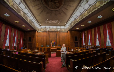 Tennessee Supreme Court Courtroom, US Post Office Bldg, 505 W. Main St., Knoxville, June 2015