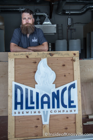 Adam Ingle, Head Brewer, Alliance Brewing Company, 1130 Sevier Ave., Knoxville, July 2015