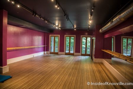 Barre Belle Yoga and Fitness, 129 S. Gay St., Knoxville, July 2015