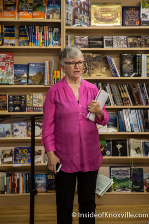Flossie McNahbb, Owner Union Avenue Books, Knoxville, July 2015