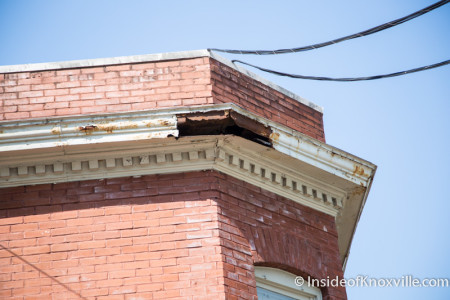 Kendrick Place Cornice Replacement, Union Avenue, Knoxville, June 2015