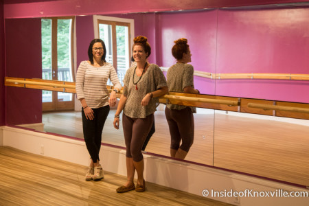 Jessica Cumbee and Carrie Bull, Barre Belle Yoga and Fitness, 129 S. Gay St., Knoxville, July 2015