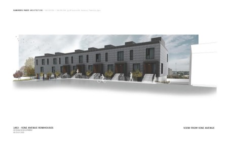 Renderings for Vine Ave. Rowhouses, Knoxville, July 2015-2