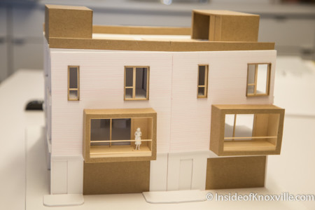 Scale Model of Vine Ave. Rowhouses, Knoxville, July 2015