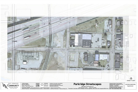 Aerial Photograph of the Area for Proposed Streetscape Project, Knoxville, July 2015