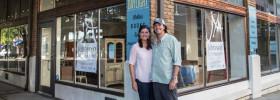 Chef Joseph Lenn and Kathryn Powell-Lenn at their New Restaurant Space, 501 Union Avenue, Knoxville, August 2015