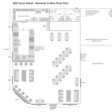 Floor Plan for the New Remedy Location