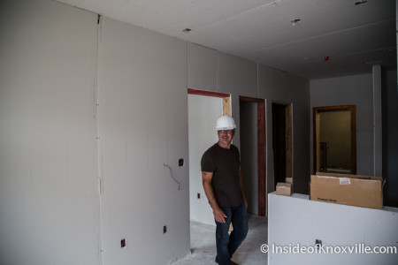 Interior Construction of Marble Alley Lofts, Knoxville, July 2015