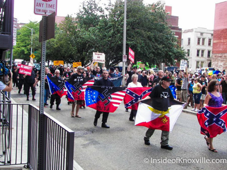 Neo-Nazis Protest Immigration, Knoxville, August 2010
