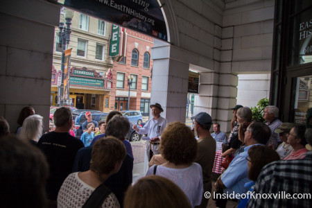 Jack Neely Knoxville 1915 Walking Tour, East Tennessee History Fair, Knoxville, August 2015