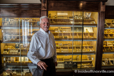 John Stancil, Park City Cigar, 708 East Depot Street, Knoxville, August 2015